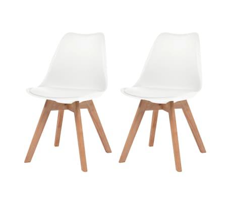 vidaXL Krzesła stołowe, 2 szt., białe, sztuczna skóra