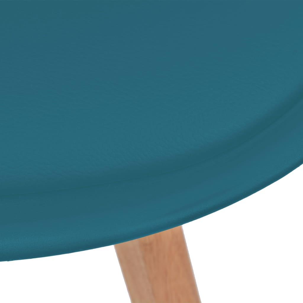 Eetkamerstoelen 2 st kunstleer turquoise