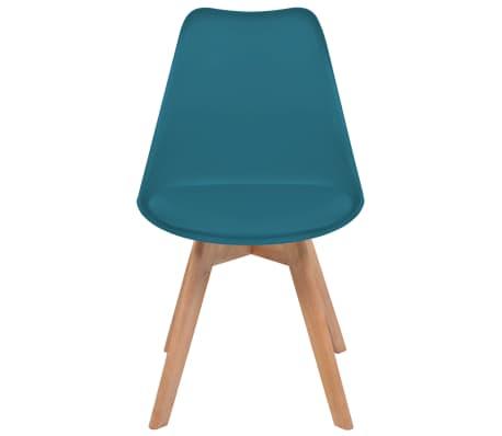 vidaXL Krzesła, 2 szt., sztuczna skóra, lite drewno, turkusowe[3/6]