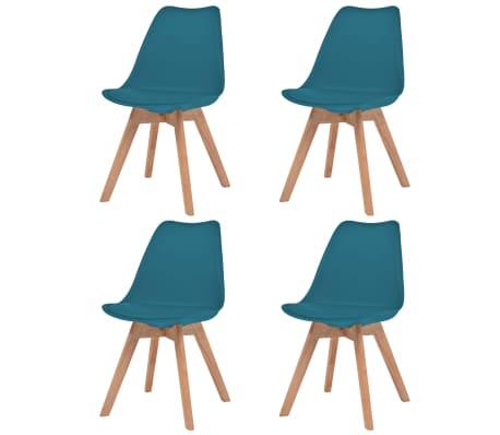 vidaXL Krzesła stołowe, 4 szt., turkusowe, sztuczna skóra