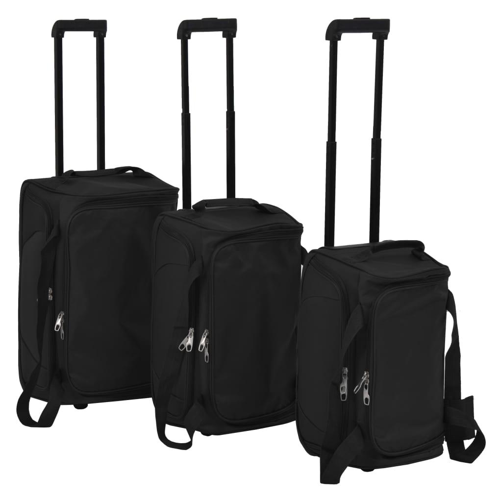 vidaXL 3dílná sada cestovních kufrů černá