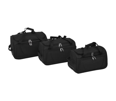 vidaXL Juego de 3 maletas negras[2/10]