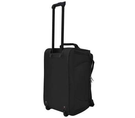 vidaXL Juego de 3 maletas negras[4/10]