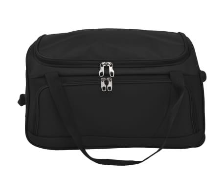 vidaXL Juego de 3 maletas negras[6/10]