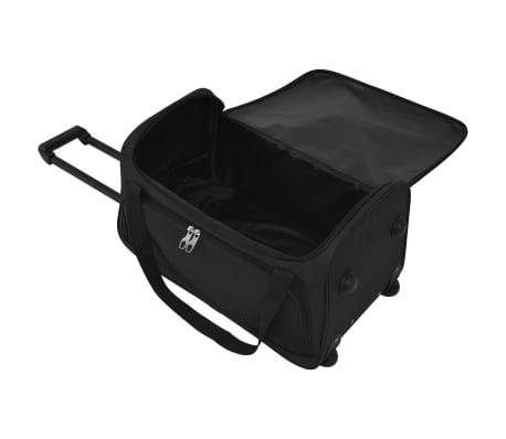 vidaXL Juego de 3 maletas negras[8/10]