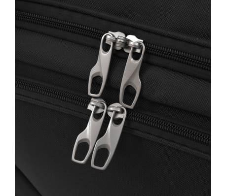 vidaXL Juego de 3 maletas negras[10/10]