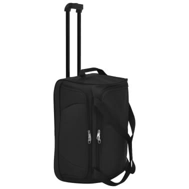vidaXL Juego de 3 maletas negras[3/10]