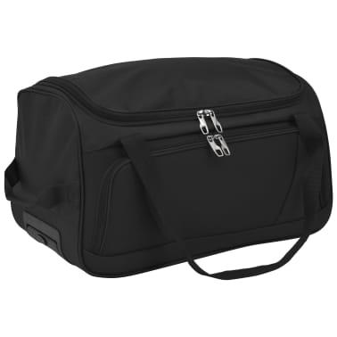 vidaXL Juego de 3 maletas negras[5/10]