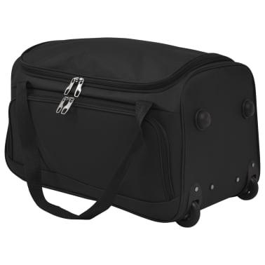 vidaXL Juego de 3 maletas negras[7/10]