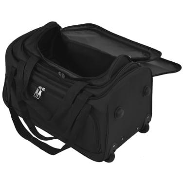 vidaXL Juego de 3 maletas negras[9/10]