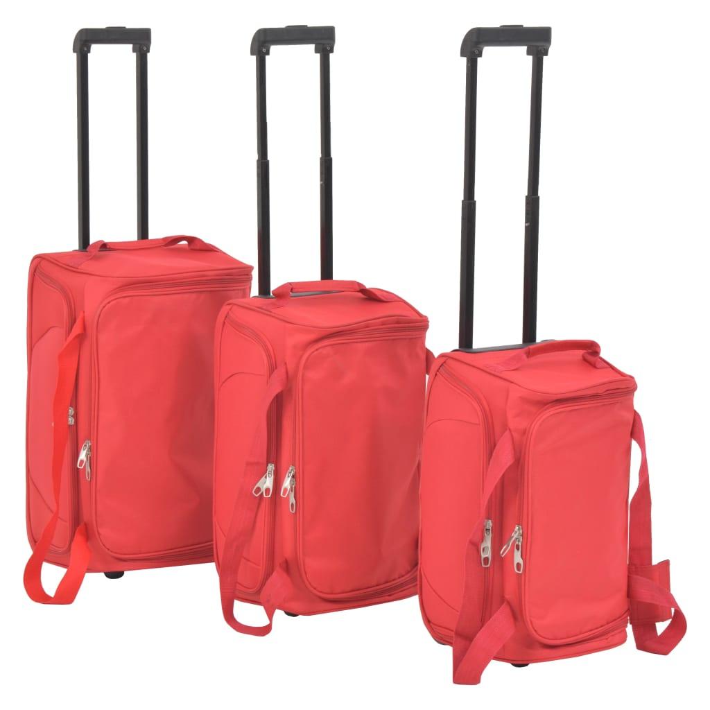 3dílná sada cestovních kufrů, červená