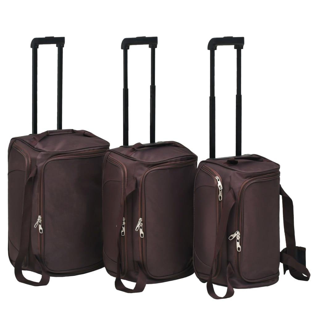 3dílná sada cestovních zavazadel kávová