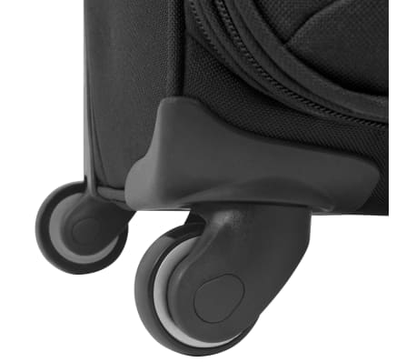 vidaXL 3 Piece Soft Case Trolley Set Black[8/11]