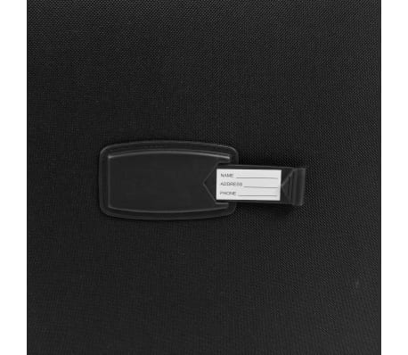 vidaXL 3 Piece Soft Case Trolley Set Black[9/11]