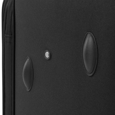 vidaXL 3 Piece Soft Case Trolley Set Black[10/11]