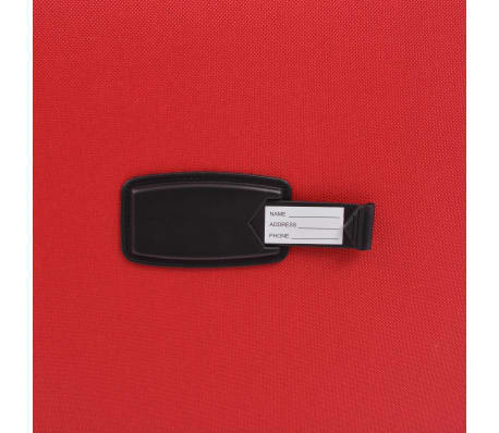 vidaXL 3 Piece Soft Case Trolley Set Red[9/11]