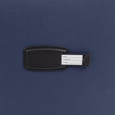 vidaXL Minkštų lagaminų su ratukais komplektas, 3vnt., tamsiai mėlyna[9/11]
