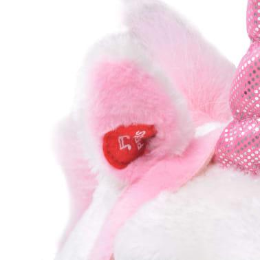 vidaXL Stovintis pliušinis žaislas vienaragis, baltas ir rožinis, XXL[4/6]