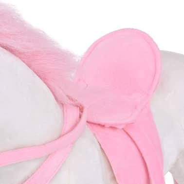 vidaXL Stovintis pliušinis žaislas vienaragis, baltas ir rožinis, XXL[5/6]
