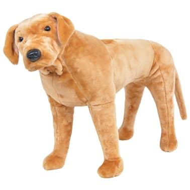 vidaXL Perro labrador de peluche de pie marrón claro XXL[1/4]
