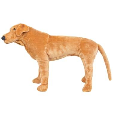 vidaXL Perro labrador de peluche de pie marrón claro XXL[2/4]