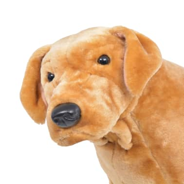 vidaXL Perro labrador de peluche de pie marrón claro XXL[3/4]