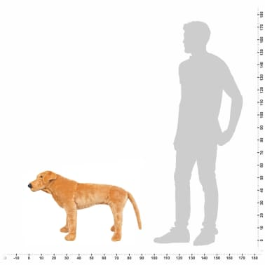 vidaXL Perro labrador de peluche de pie marrón claro XXL[4/4]