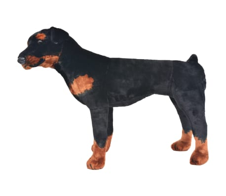 vidaXL Jouet en peluche Chien de race Rottweiler Marron et noir XXL[2/4]