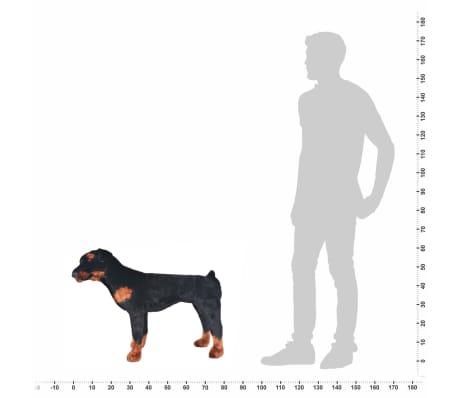vidaXL Jouet en peluche Chien de race Rottweiler Marron et noir XXL[4/4]
