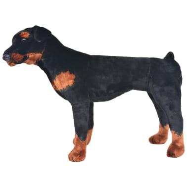 vidaXL Pastat. pliušinis žaislas šuo, rotveileris, juodas ir rud., XXL[2/4]
