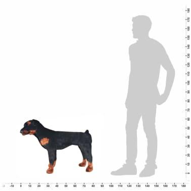 vidaXL Pastat. pliušinis žaislas šuo, rotveileris, juodas ir rud., XXL[4/4]