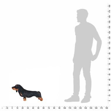 vidaXL Perro salchicha de peluche de pie negro XXL[4/4]