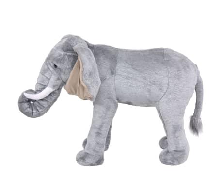 vidaXL Plüschtier Stehend Elephant Grau XXL[2/4]