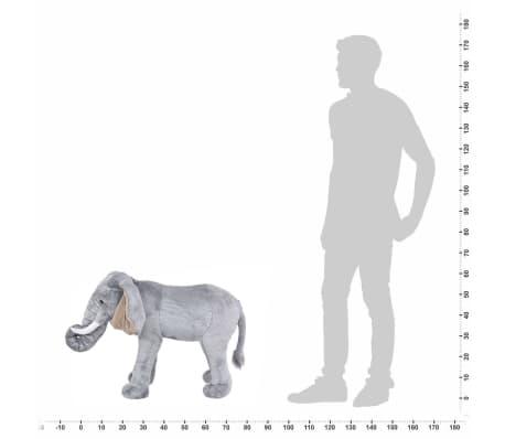 vidaXL Plüschtier Stehend Elephant Grau XXL[4/4]