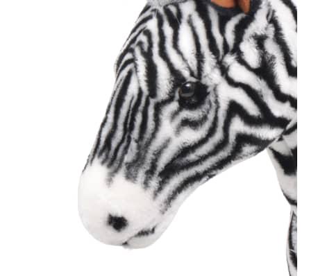 vidaXL Cebra de peluche de pie negro y blanco XXL[3/4]