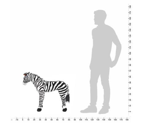 vidaXL Cebra de peluche de pie negro y blanco XXL[4/4]