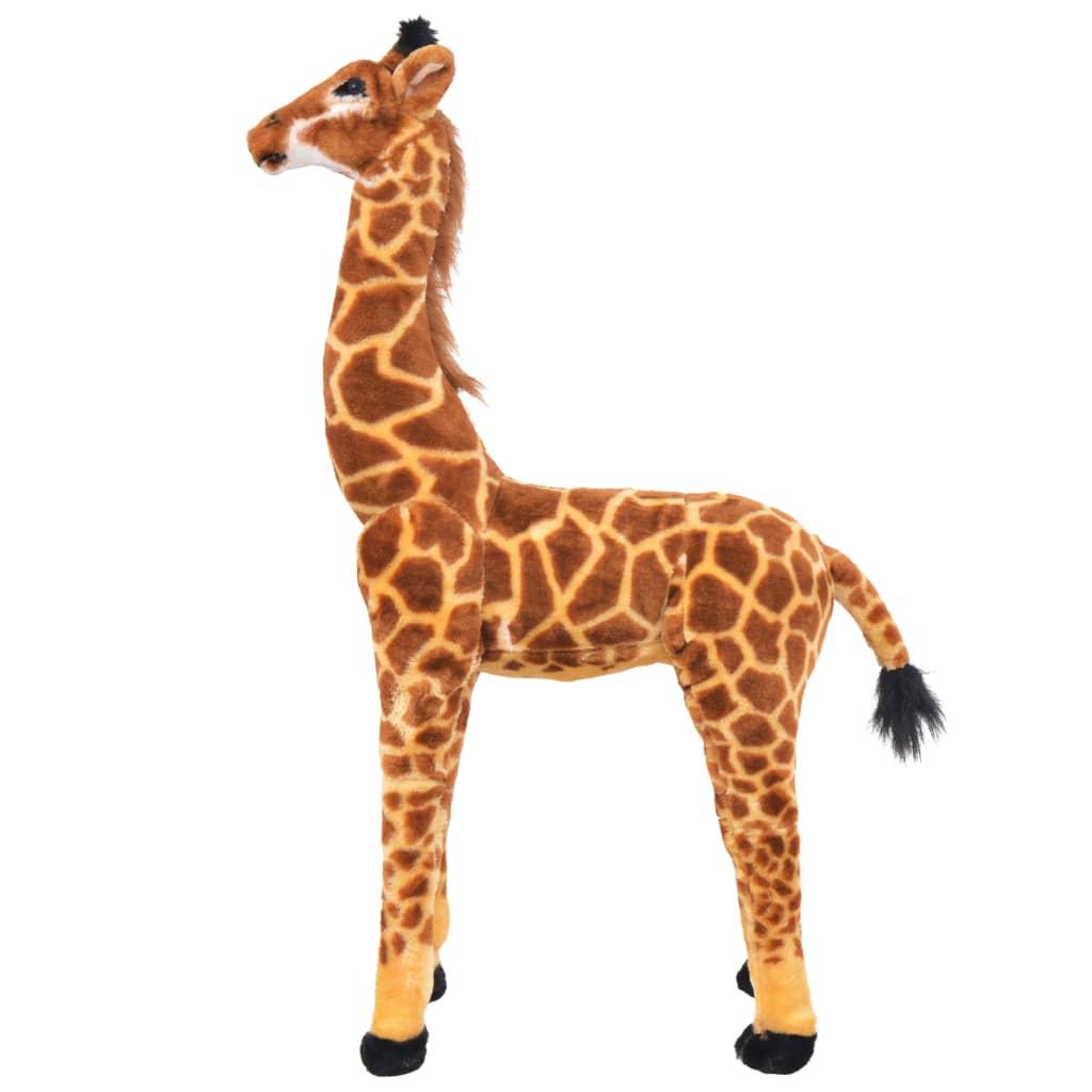 99991336 Stehendes Plüschspielzeug Giraffe Braun und Gelb XXL