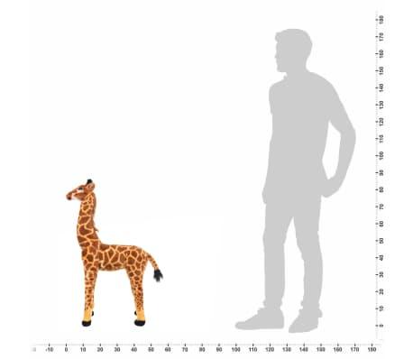 vidaXL Jirafa de peluche de pie marrón y amarilla XXL[4/4]