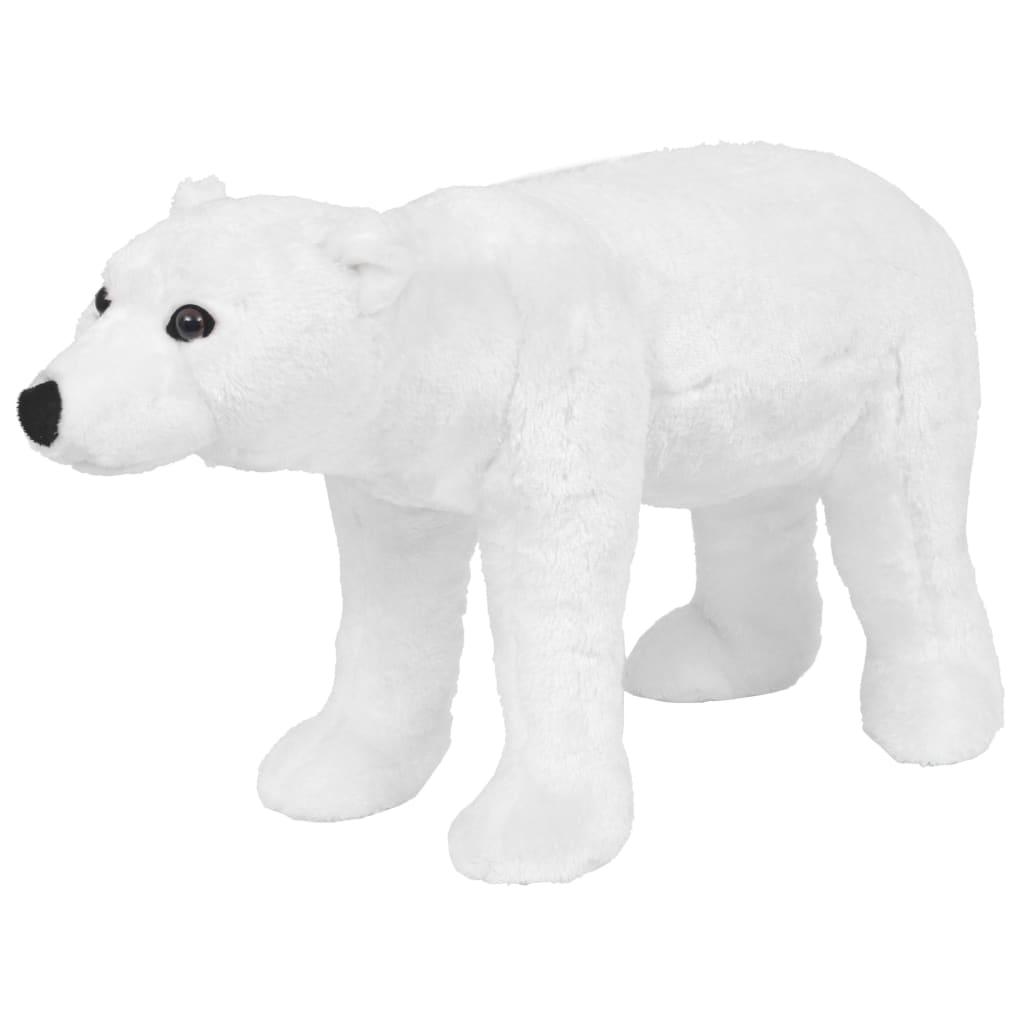 Stojící plyšová hračka, lední medvěd, bílý, XXL