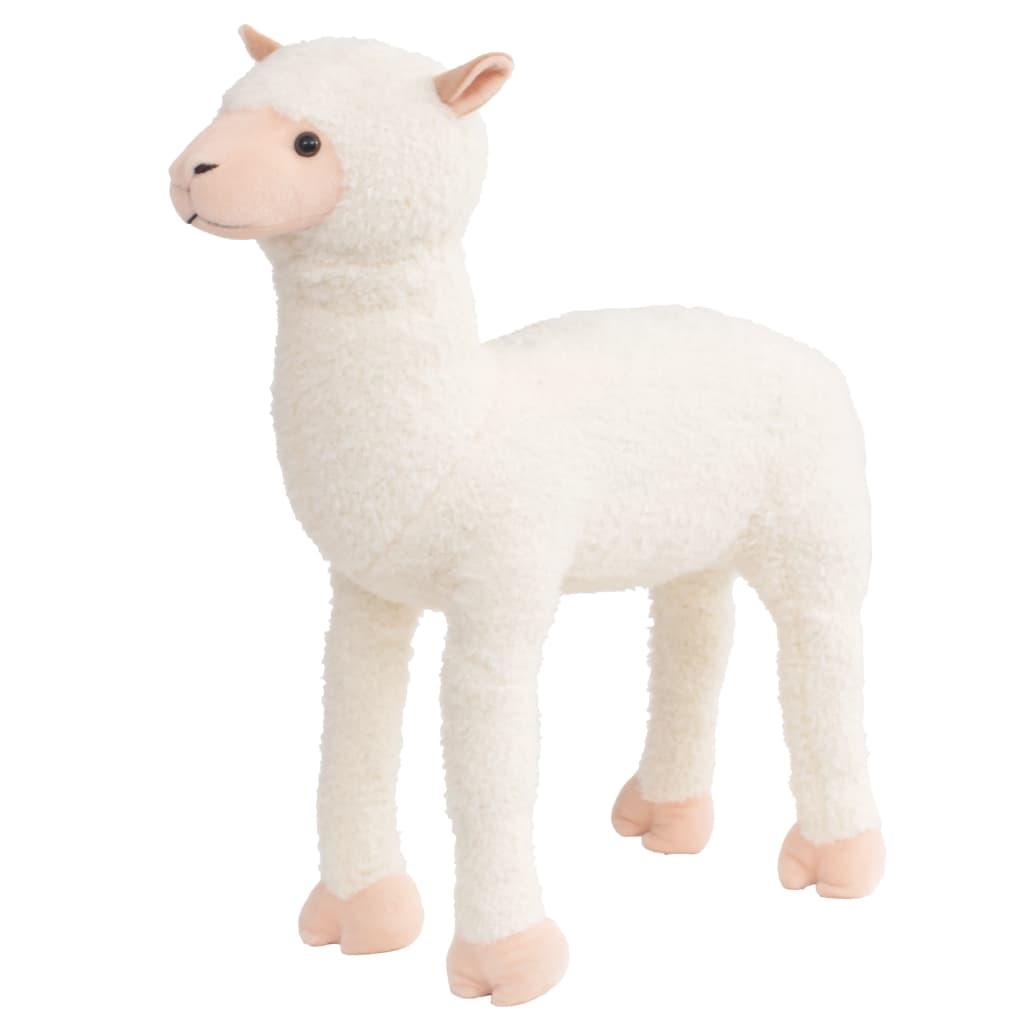 Stojící plyšová hračka, alpaka, bílá, XXL