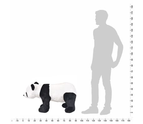 vidaXL Plüschtier Stehend Panda Schwarz und Weiß XXL[4/4]