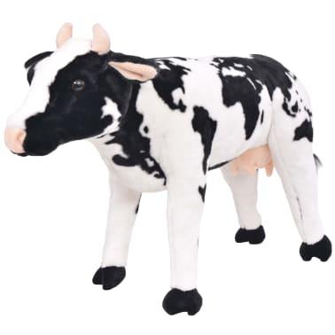 vidaXL Vaca de peluche de pie color negro y blanco XXL[1/4]
