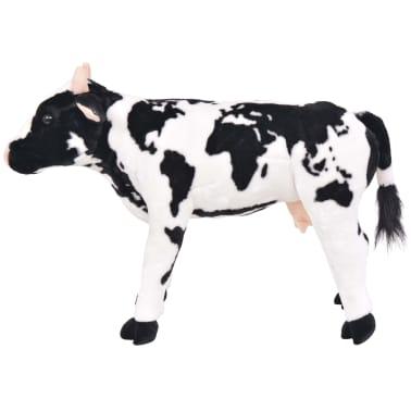 vidaXL Vaca de peluche de pie color negro y blanco XXL[2/4]
