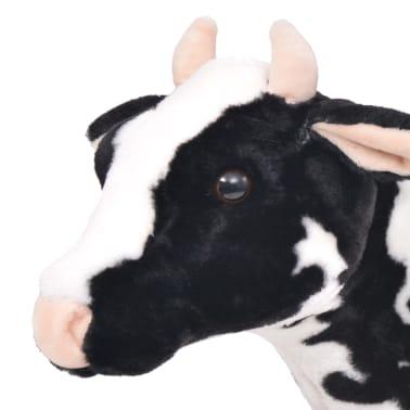 vidaXL Vaca de peluche de pie color negro y blanco XXL[3/4]