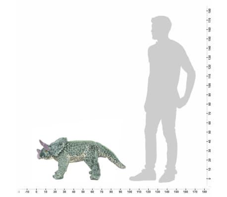 vidaXL Jouet en peluche Dinosaure Tricératops Vert XXL[4/4]