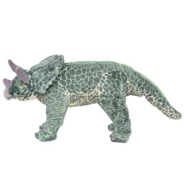 vidaXL Jouet en peluche Dinosaure Tricératops Vert XXL[2/4]