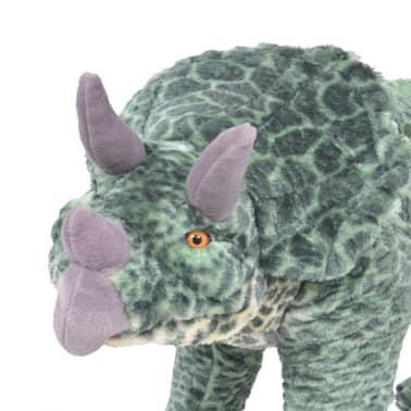 vidaXL Jouet en peluche Dinosaure Tricératops Vert XXL[3/4]