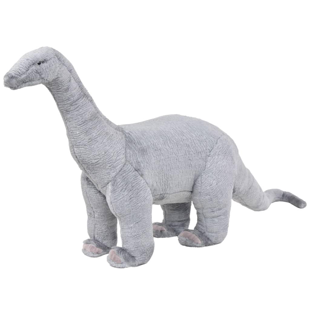 Stojící plyšová hračka, dinosaurus brachiosaurus, šedý, XXL