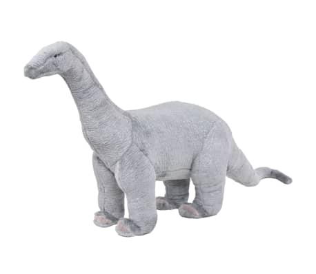 vidaXL rotaļu dinozaurs, brahiozaurs, XXL, pelēks plīšs
