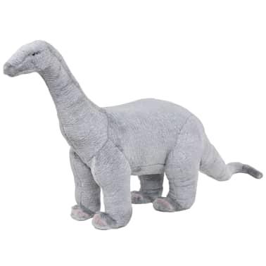 vidaXL Plüschtier Stehend Brachiosaurus Dinosaurier Grau XXL[1/4]